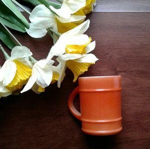 Anchor Hocking Vintage fire king orange barrel mug
